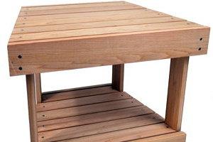 New Hope Seat/Side Table w/ Shelf